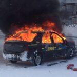 В Качканаре сгорела машина